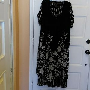 Lola R dress with polka dots and floral design